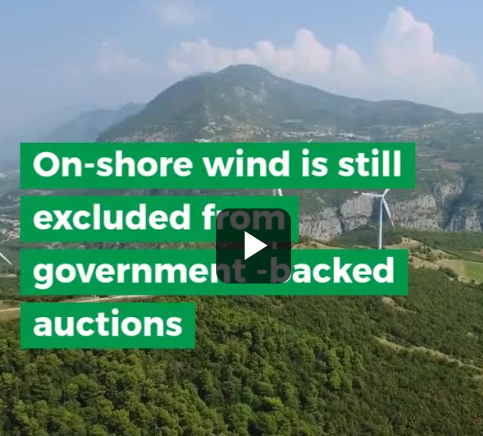 ​On shore wind is still excluded from government-backed auctions